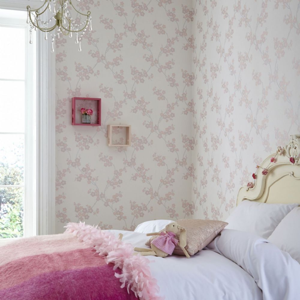 Graham and Brown Cherry Blossom Soft Pink 20-811 Wallpaper